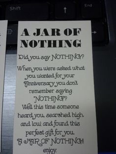 photo relating to Jar of Nothing Printable Label Free referred to as 2001 Suitable Reward Plans shots Do it yourself presents, Home made items, Items