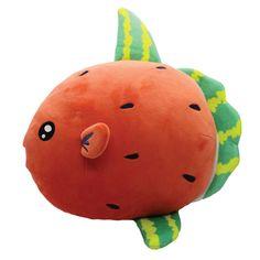 Kawaii Plush, Cute Plush, Kimchi, Summer Time, Watermelon, Cow, Dinosaur Stuffed Animal, Indie, Super Cute