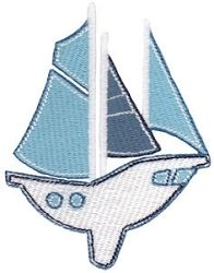 Sail Away Sailboat - 2 Sizes! | Beach/Ocean | Machine Embroidery Designs | SWAKembroidery.com Bunnycup Embroidery