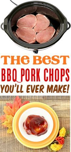 Pork Chop Recipes - Easy Crockpot Barbecue Boneless Pork Chop Recipe and Drink crock pot pork chops Crockpot Maple Barbecue Pork Chops Recipe! Easy Pork Chop Recipes, Pork Recipes, Cooking Recipes, Crockpot Recipes, Crockpot Dishes, Cake Recipes, Barbacoa, Barbecue Pork Chops, Chops Recipe