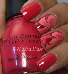 дизайн красных ногтей   смесь red nail design trends