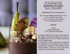 Pudding de graines de chia, tout chocolat! |
