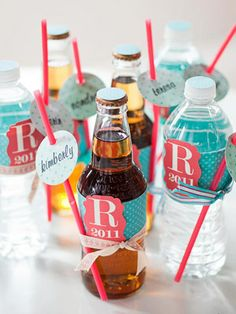 Attach name tags to straws to keep track of drinks at a party