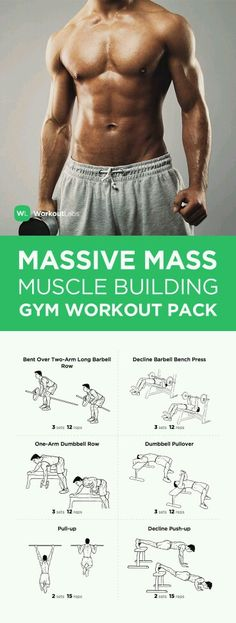 MASSIVE MASS MUSCLE BUILDING #gym #workout PACK