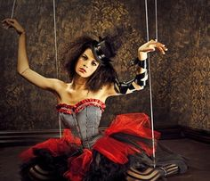 Couture circus - this is actually a really cool photo shoot concept!