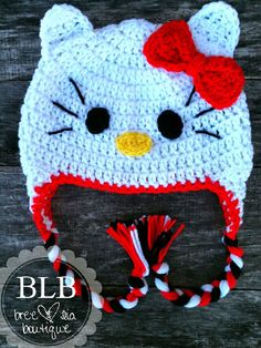 This listing is for a crochet Hello Kitty inspired hat. Coming from a pet-free, smoke-free office. Made with soft and warm acrylic yarn. Hello Kitty, Crochet Hats, Boutique, Trending Outfits, Unique Jewelry, 12 Months, Handmade Gifts, Size Chart, Youth