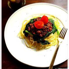 挽肉を消費すべく、本日はボロネーゼに。 - 123件のもぐもぐ - パスタ ボロネーゼ  by welcomeizumi