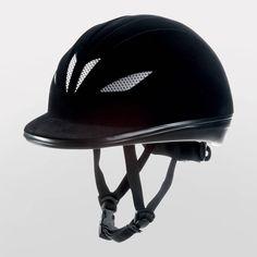 Belstar Flocked Mesh Adjustable Riding Hat / Helmet - Adults