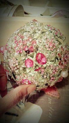 Pink Jeweled Pomander.. Love this! :)