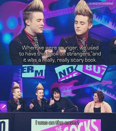 Jedward & Noel Fielding ... Perfection.