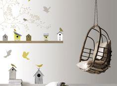 Peinture et/ou scrapbooking :  idée sympa pour la chambre des  enfants