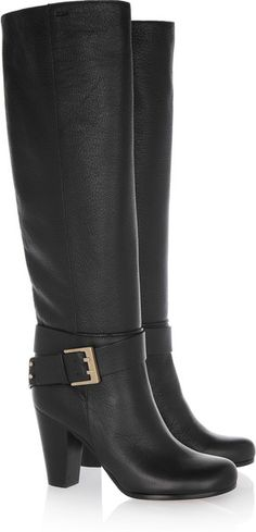 Chloe Leather Knee Boots