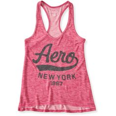 Aero Glitter Knit Hi-Lo Tank (20 BRL) ❤ liked on Polyvore featuring tops, electric pink neon, glitter tank top, glitter tank, neon pink tank, knit top and aeropostale tank tops