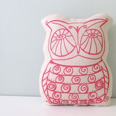 owl pillow from sweetnature designs -- adorable! I love owls :)
