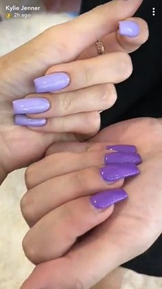 49 ideas nails kylie jenner glam for 2019 Purple Nails, Matte Nails, Stiletto Nails, Acrylic Nails, Matte Makeup, Green Nails, Acrylics, Garra, Hair And Nails