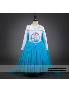 Frozen Vestito con Mantello Compleanno Bambina 00066
