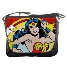 Wonder Women Retro Comic Cartoon Messenger Bag School Textbook Macbook Ipad Laptop Computer Sling Cross Body Bags * Additional info @
