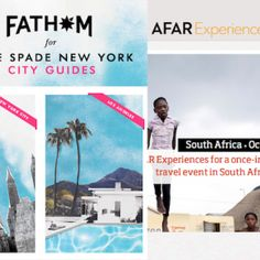 Two of our favorite authorities on travel, AFAR and Fathom, recently released some exciting travel news New York City Guide, Travel News, Far Away, South Africa, Announcement, Culture, Friends, Amigos, Boyfriends