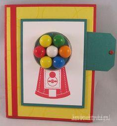 Gum Ball Machine Card