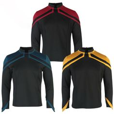 Report for duty with this incredible Star Trek: Picard inspired uniform! This item ships for free! Size Guide: Size Length Chest Shoulder Sleeve Length S 62cm 98cm 40cm 59cm M 64cm 103cm 42cm 60.5cm L 66cm 109cm 44cm 62cm XL 68cm 114cm 46cm 63.5cm 2XL 70cm 119cm 48cm 65cm 3XL 72 125cm 50cm 66.5 Please allow 2-3 weeks for shipping. Star Trek Merchandise, Star Trek Uniforms, Star Trek Starships, Uniform Design, Shoulder Sleeve, 3 Weeks, Random Stuff, Sci Fi, Gadgets