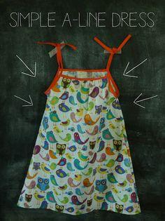 Handmade Frenzy: Handmade Summer Series Part Three: Simple A-Line Dress