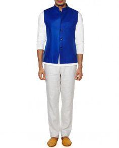 Royal Blue Sleeveless Waistcoat