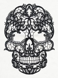 Lacy Skull | Urban Threads: Unique and Awesome Embroidery Designs