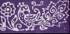 Peacock design in Batik painting