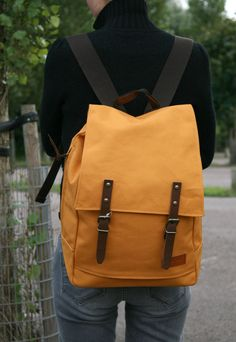 Mercury Mustard Backpack