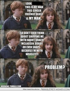 Shipping Hermione with anyone else? Think again!