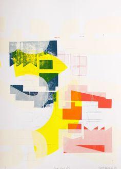 Kings Cross 63 - silkscreen print by Banazi Graphic Design Illustration, Illustration Art, Cristiana Couceiro, Ai Weiwei, Mood Colors, Architecture Graphics, Print Print, Silk Screen Printing, Screenprinting