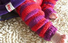 Babylegs. Free pattern in German. One size for babies