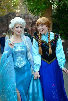 The ladies at Disneyland (possibly WDW). They look great! :D