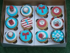 Dr Seuss Themed Cupcakes