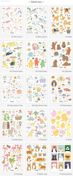 Planner Stickers [01-30] / 4sheets / Uncut Stickers / Decorative Diary Stickers / Scrapbooking Stick