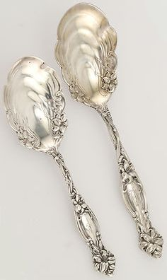Sterling Silver Serving Pieces/sugar shells....
