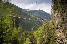 Hängebrücke Wilde Wasser - by Herbert Raffalt Wilde, Mountains, Nature, Summer, Travel, Vacation Places, Horseback Riding, Water, Naturaleza