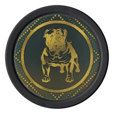 Decorative Golden Embossed - English Bulldog Set Of Poker Chips - diy cyo customize create your own personalize