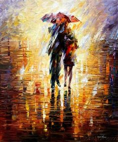 Leonid Afremov... so pretty! Wish I could paint in an impressionistic way- gotta practice :)