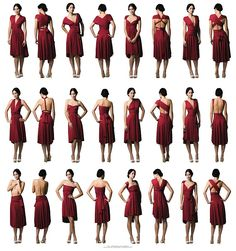Convertible dress....interesting haha | Darning Red Dress ...