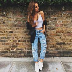 #brandyeu top and cardigan @pullandbear mom jeans @mango  shoes ; second-hand bag #weronikazalazinska