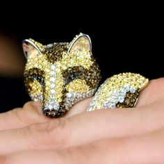 Marilee's Fox Cocktail Ring - Sterling Silver