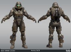 Halo 5: Guardians   Spartan Buck, Kyle Hefley@ArtStation