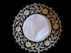 Biancheria | Merletti merletto ad ago Aemilia Ars cuscini porta fedi cuscini porta anelli inserti per abiti da sera e da cerimonia biancheria ricamata