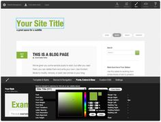 website creation tool w easily customizable templates #ux #design #webapplications