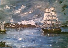 ship by sandrutowiec on DeviantArt Sailing Ships, Boat, Deviantart, Dinghy, Boats, Sailboat, Tall Ships, Ship