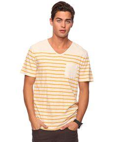 Slub Knit Striped Tee | 21 MEN - 2000040139