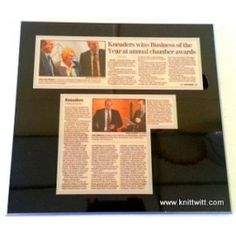 """Laminated Plaques, Use promotional code """"THOLM2013"""" on knittwitt.com for 25% off your order!!!"""