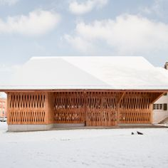 Dwelling House with Barn / Michael Meier Marius Hug Architekten. I absolutely love this.