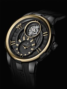 Perrelet's signature expertise and creativity PERRELET Turbine and Tourbillon Black & Gold Ltd Ed (See more at: http://watchmobile7.com/articles/perrelet-turbine-and-tourbillon-black-gold-ltd-ed) (5/5) #watches #perrelet #perreletwatch @Koichi Kitazumi Kitazumi Hayashi Perrelet